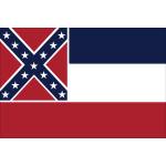 """Mississippi - 4"""" x 6"""" Minature Stick Flags"""