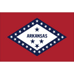 "Arkansas - 4"" x 6"" Minature Stick Flags"