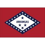 "Arkansas - 4"" x 6"" Minature Stick Flags"