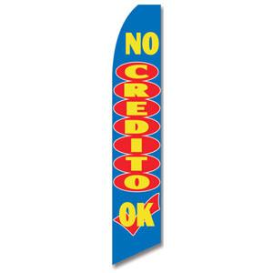 No Credito Ok Feather Flag