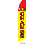Oil Change - Black, Red and Yellow - Feather Flag