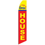 Open House (yellow & red)  - Feather Flag