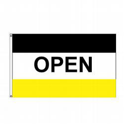 Open (Black, White & Yellow) Message Flag