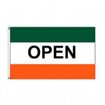 Open (Green, White & Orange) Message Flag