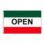 Open (Green, White & Red) Message Flag