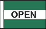 Open (Green, White & Green) Message Flag