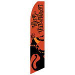 Happy Halloween Feather Flag (orange)