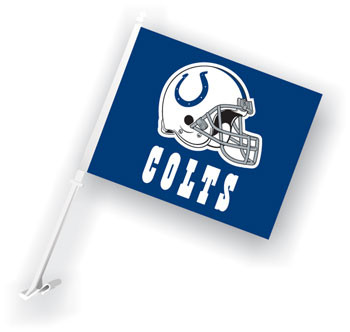 Indianapolis Colts Car Flags