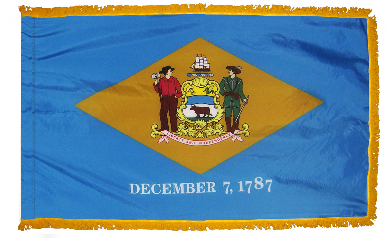 Delaware Fringed Flag
