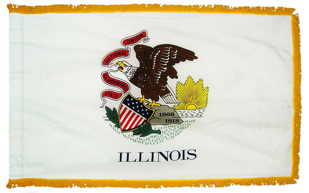 Illinois Fringed Flag