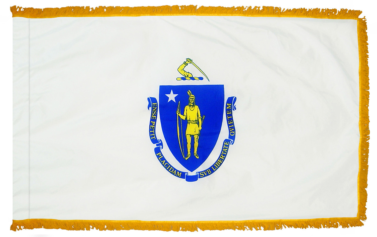 Massachusetts Fringed Flag