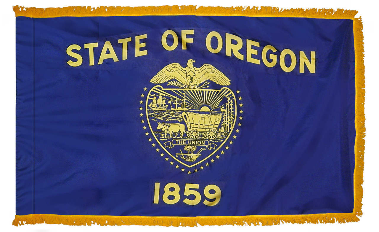 Oregon Fringed Flag