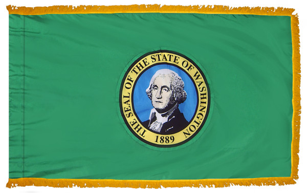 Washington Fringed Flag