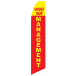 New Management Feather Flag