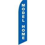 Model Home Feather Flag White on Blue