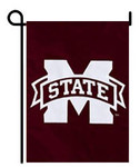 Mississippi State Bulldogs Appliqued Garden Flag