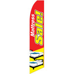 Mattress Sale Feather Flag Yellow Red