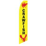 Crawfish Feather Flag Yellow