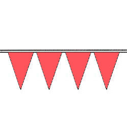 Brilliant Red Fluorescent Pennants (Not True RED)