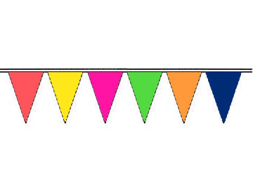 Alternating Colors Fluorescent Pennants