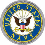 Navy circular decal