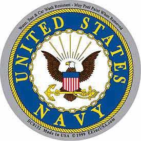 Navy circular decal