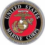 Marine circular decal