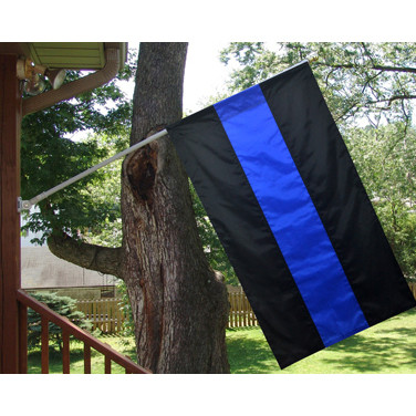 Thin Blue Line Police House Banner