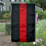 Thin Red Line Garden Flag