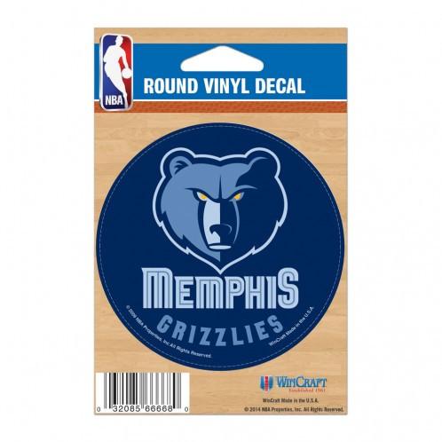 Memphis Grizzlies Round Vinyl Decal