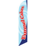 Funnel Cakes (red letters, blue background) Semi Custom Feather Flag Kit