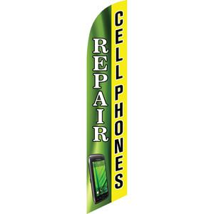 cellphone, phone repair, feather flag, iphone repair, android repair, advertising sign, samsung repair