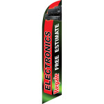 Electronic Repair (red/green) Semi Custom Feather Flag Kit