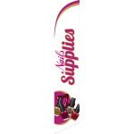 Nails Supplies (white) Semi Custom Feather Flag Kit