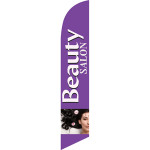 Beauty Salon (violet) Semi Custom Feather Flag Kit