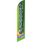 Roasted Corn (green background, blue letters) Semi Custom Feather Flag Kit
