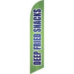 Deep Fried Snack (green background) Semi Custom Feather Flag Kit