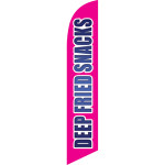 Deep Fried Snack (magenta background) Semi Custom Feather Flag Kit