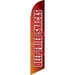 Deep Fried Snack (orange background) Semi Custom Feather Flag Kit