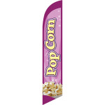 Pop Corn (purple background) Semi Custom Feather Flag Kit