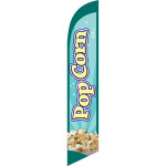 Pop Corn (light green background) Semi Custom Feather Flag Kit
