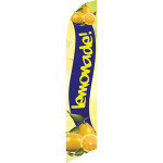 Lemonade (with lemons, blue background) Semi Custom Feather Flag Kit