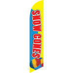 Snow Cones (yellow and blue background) Semi Custom Feather Flag Kit