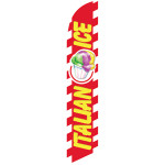 Italian Ice (yellow letters) Semi Custom Feather Flag Kit