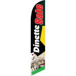 Dinette Sale (Red Letters) Semi Custom Feather Flag Kit