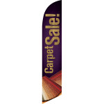 Carpet Sale (Brown Background) Semi Custom Feather Flag Kit