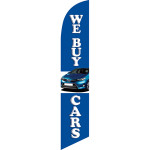 We Buy Cars (blue background) Semi Custom Feather Flag Kit