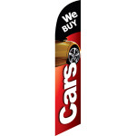 We Buy Cars (black and red background) Semi Custom Feather Flag Kit