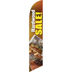Hardwood Sale (White Letters) Semi Custom Feather Flag Kit