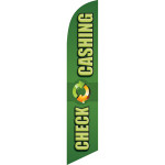 Check Cashing (green background) Semi Custom Feather Flag Kit